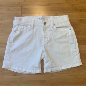 NWOT Banana Republic White Denim Shorts | Size 25